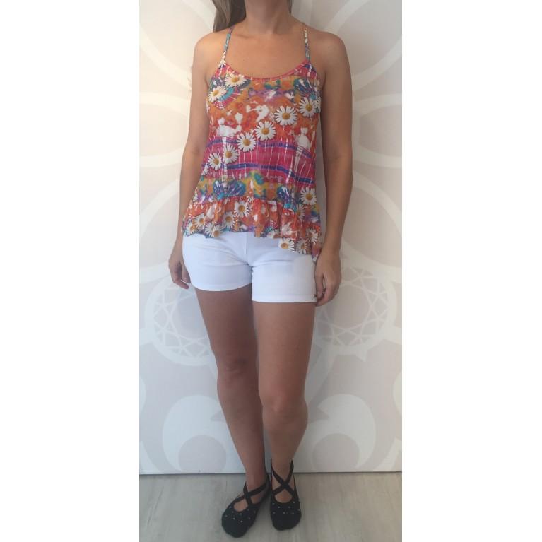Tanny Homewear - Conjunto Regata Florida e Shorts 486ebb4290e